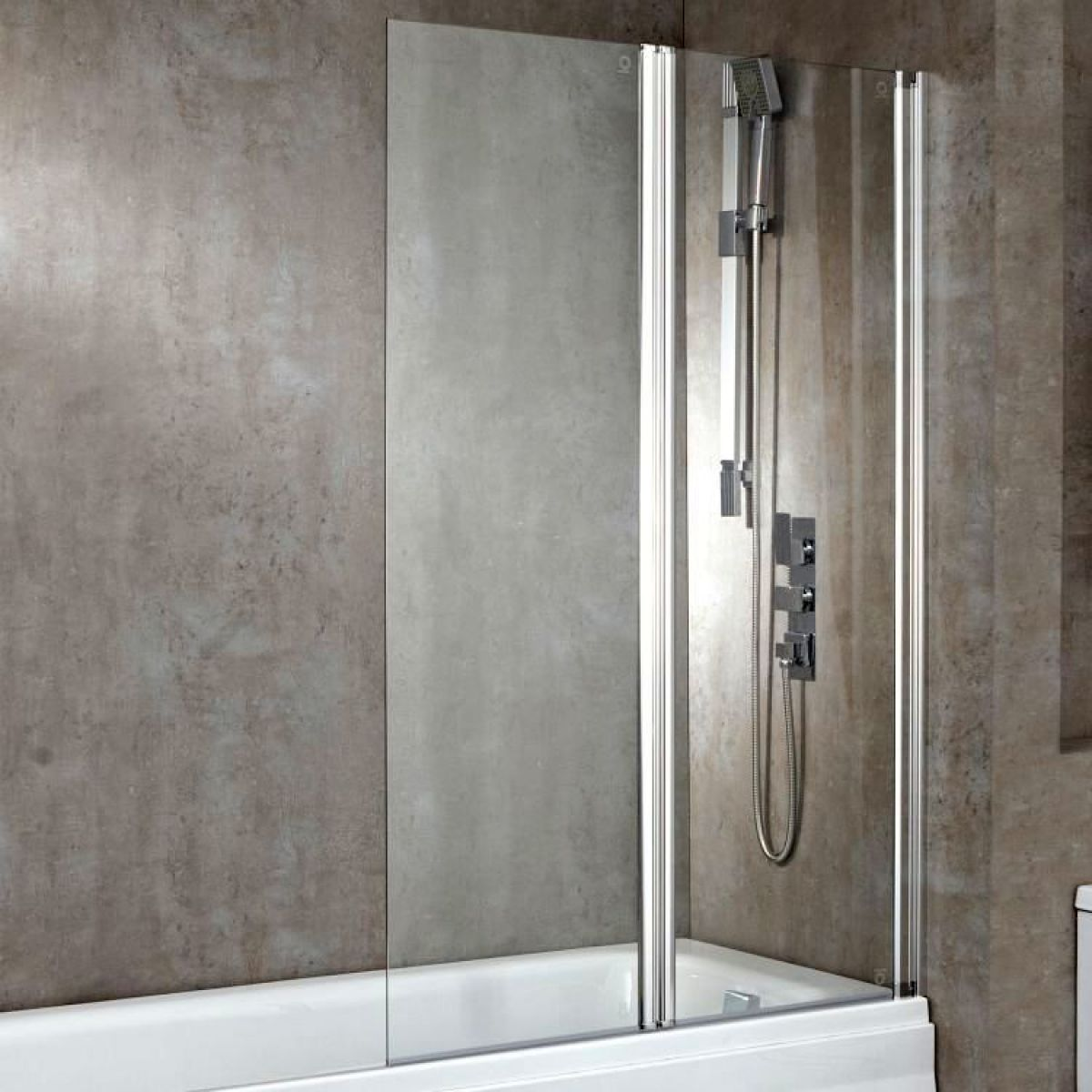Phoenix Double Square Bath/Shower Screen : UK Bathrooms
