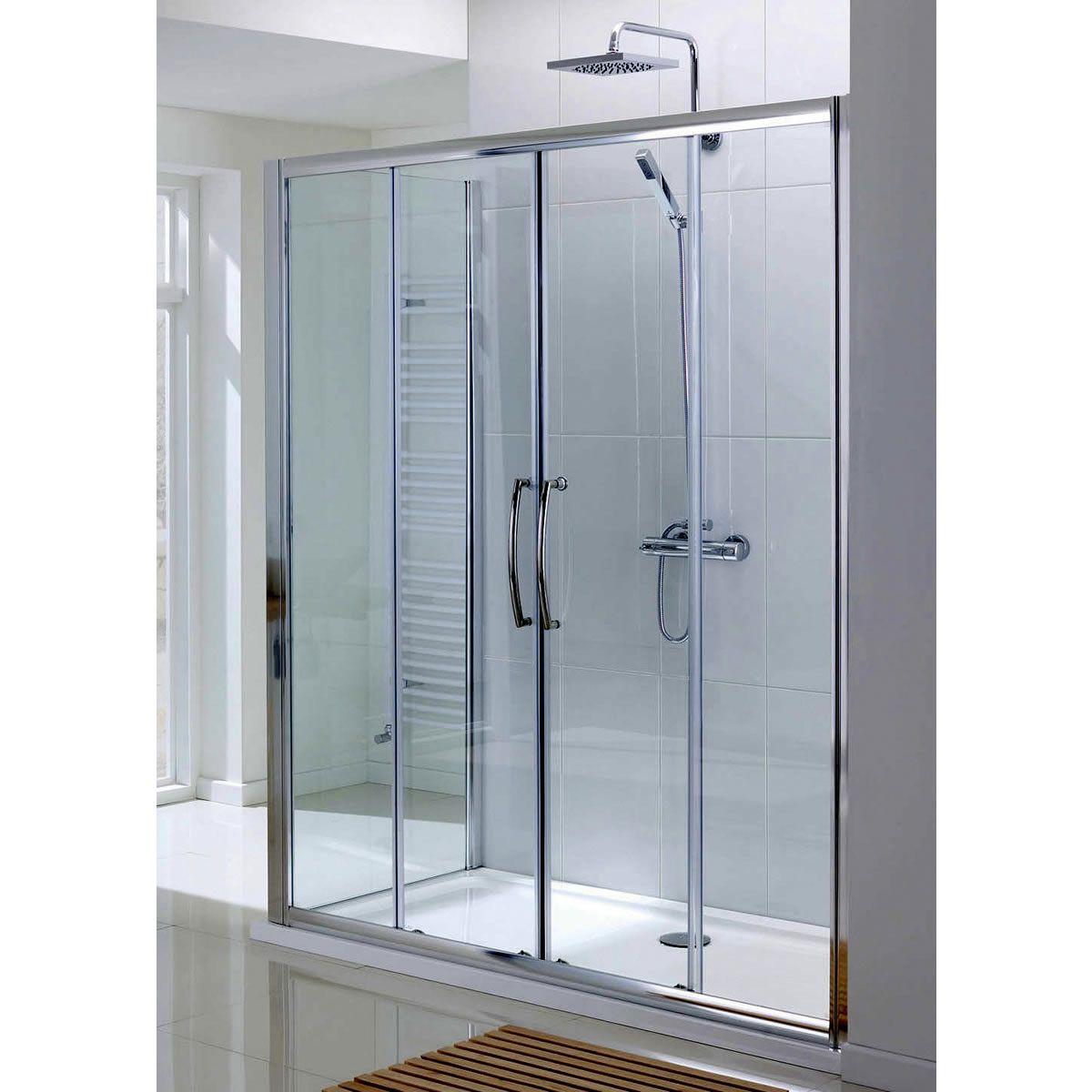 Lakes classic semi frameless double sliding shower door for 1200 shower door
