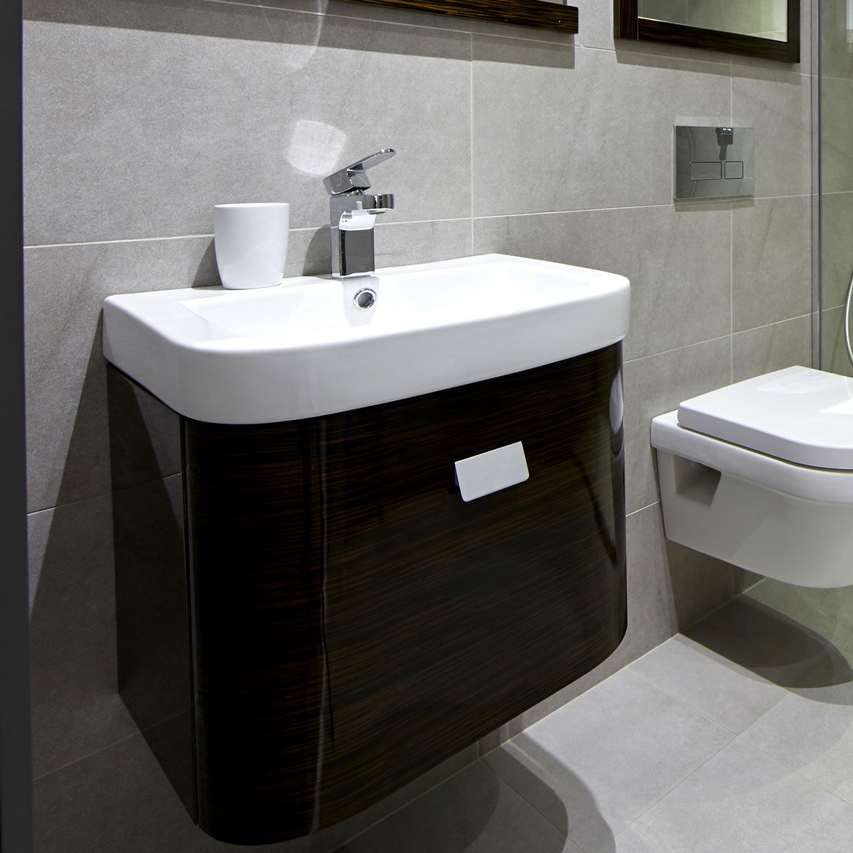 origins smooth vanity unit with 500mm basin uk bathrooms. Black Bedroom Furniture Sets. Home Design Ideas