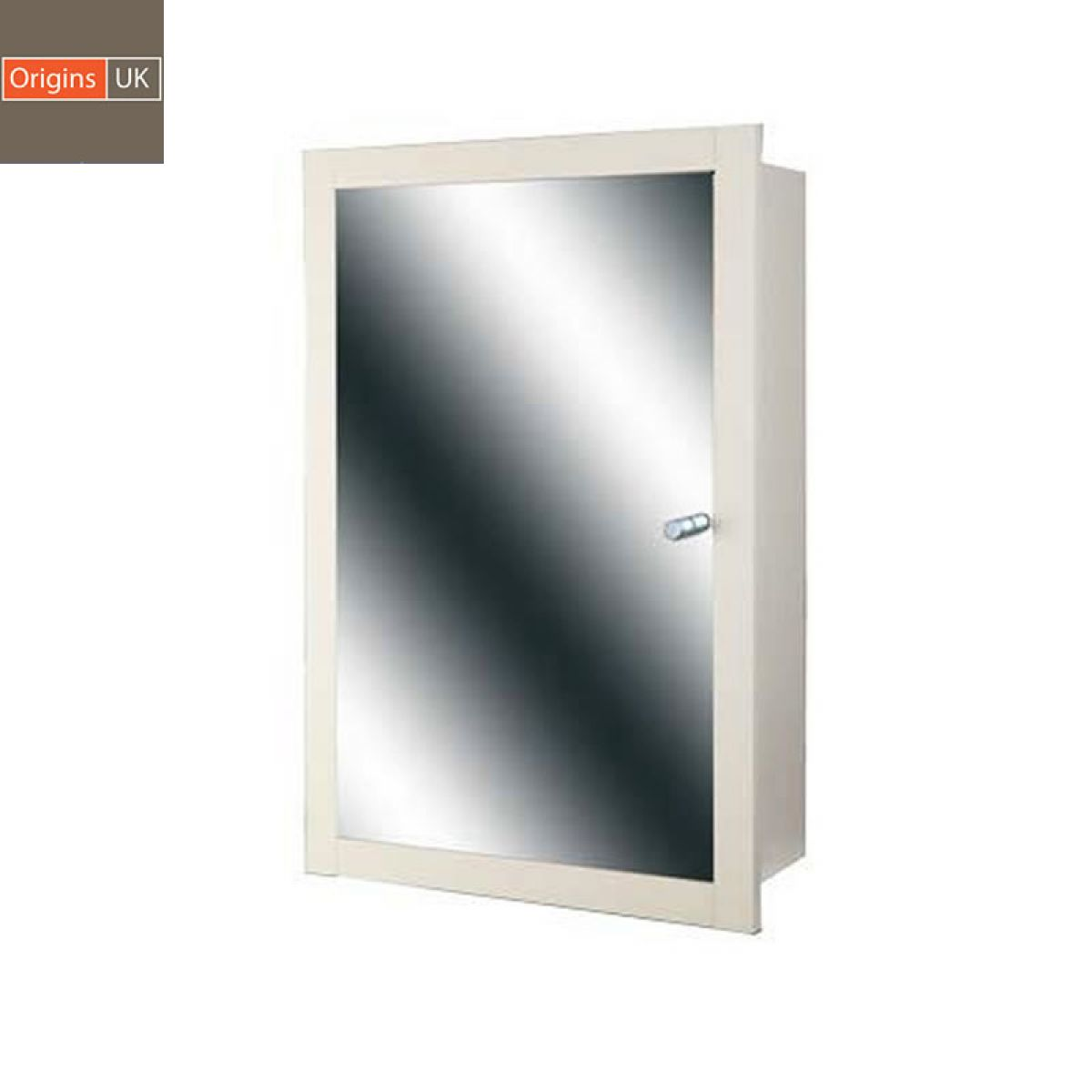 ... Origins Single Door Recessed Mirror Cabinet