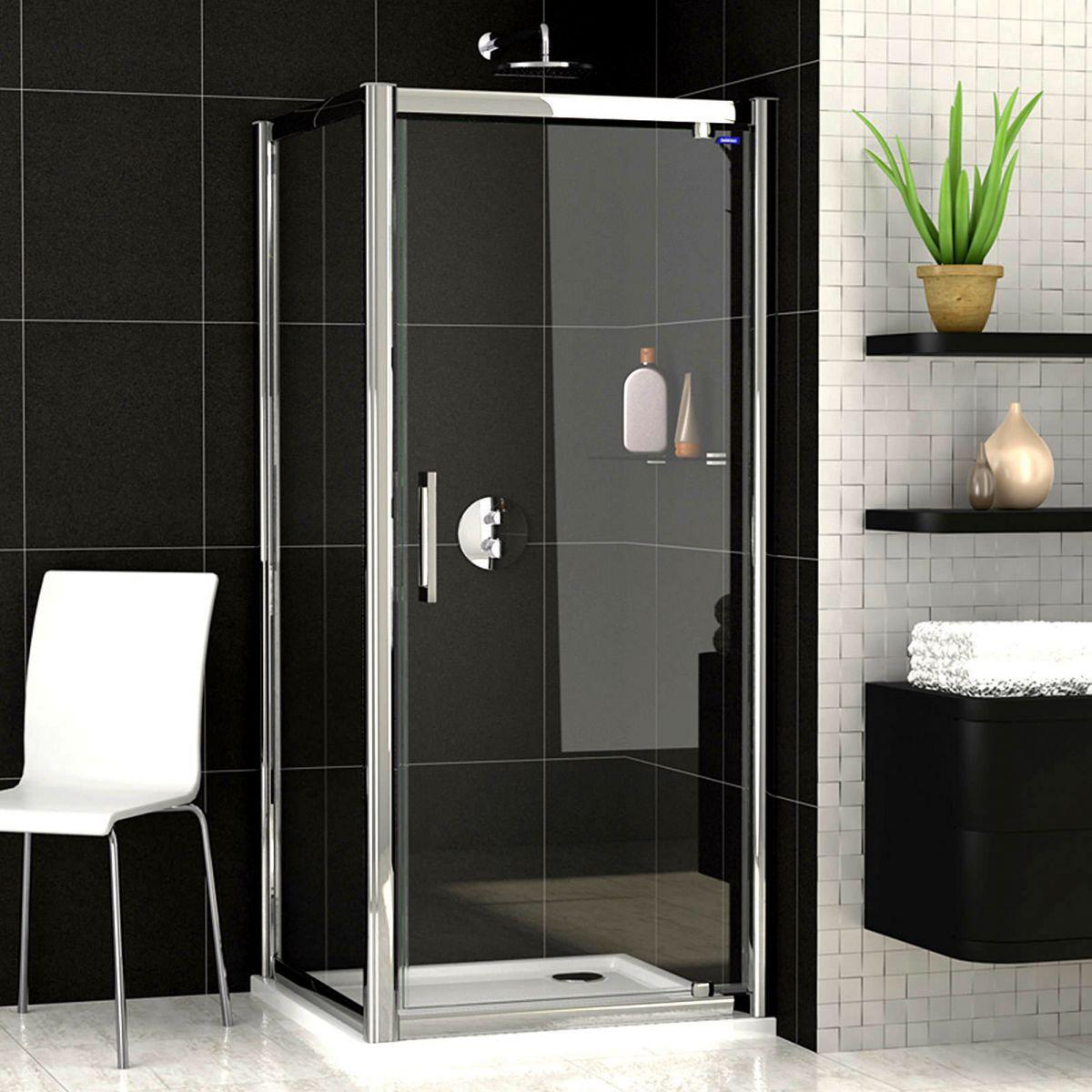 Showerlux legacy pivot door shower enclosure uk bathrooms for 1200 pivot shower door