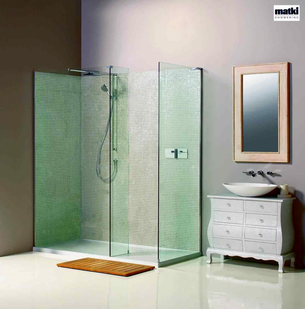 Matki Boutique Corner Walk-in Shower Enclosure with Side Panel : UK ...