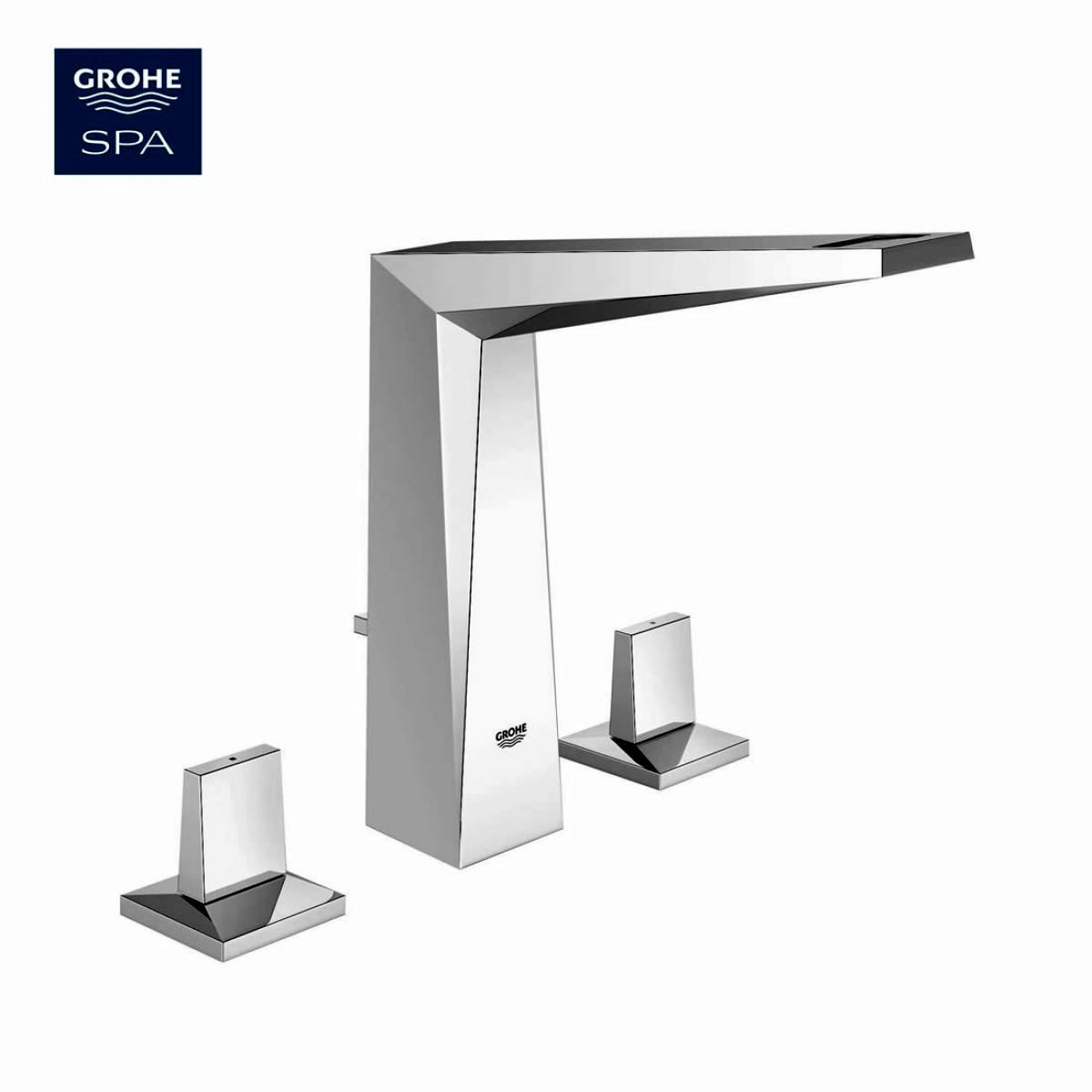 Grohe Allure Brilliant 3-hole Basin Mixer Tap : UK Bathrooms