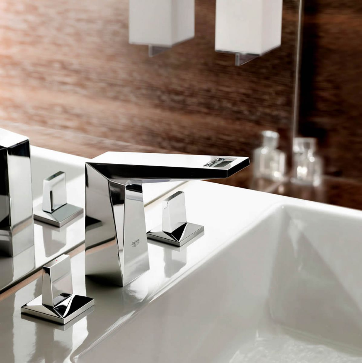Grohe Allure Brilliant 3 Hole Basin Mixer Tap Uk Bathrooms