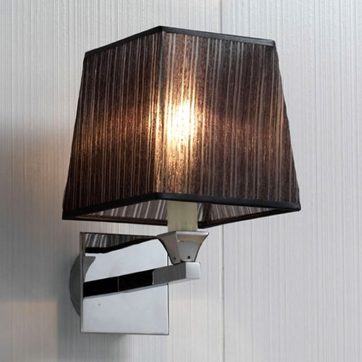 Imperial Astoria Wall Lamp with Fabric Shade : UK Bathrooms