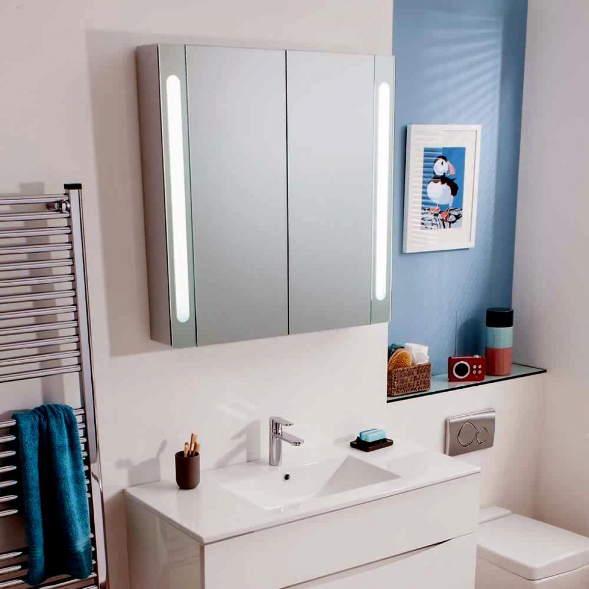 Bauhaus Kitchen Design: Bauhaus Mirrored Aluminium Wall Hung Cabinet : UK Bathrooms