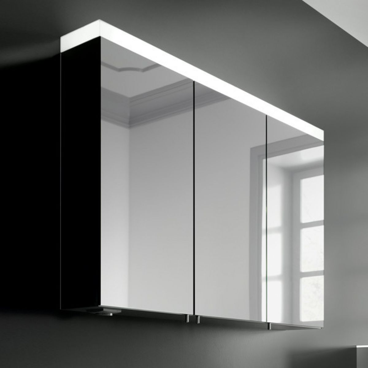 Slimline mirror cabinet bar cabinet for Slim mirrored bathroom cabinet