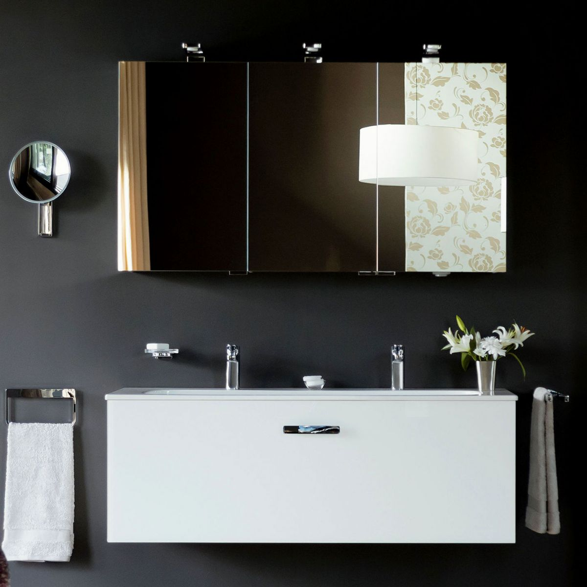 mirrors hang to a bathroom popular ideas wall mirror