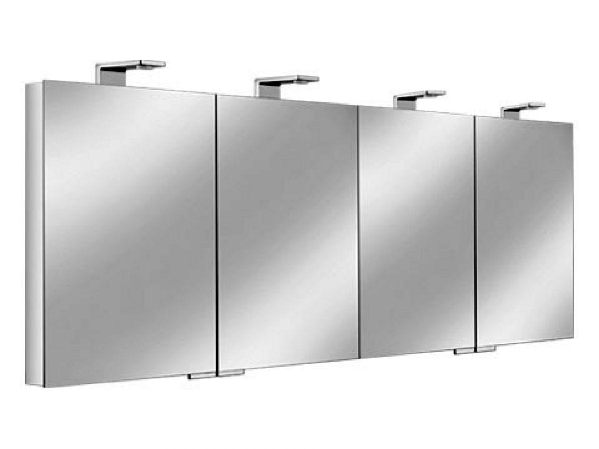 Illuminated Mirror Glass Cabinet: Keuco Royal Universe Illuminated Mirror Cabinet : UK Bathrooms