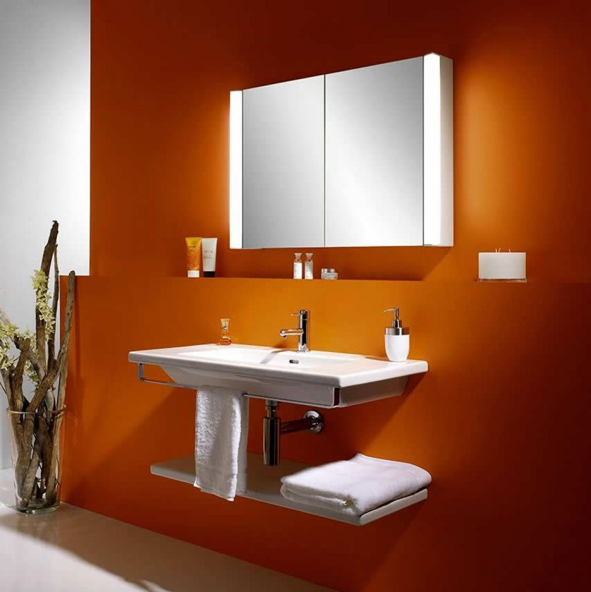 schneider moanaline mirror cabinet with overhead light uk bathrooms