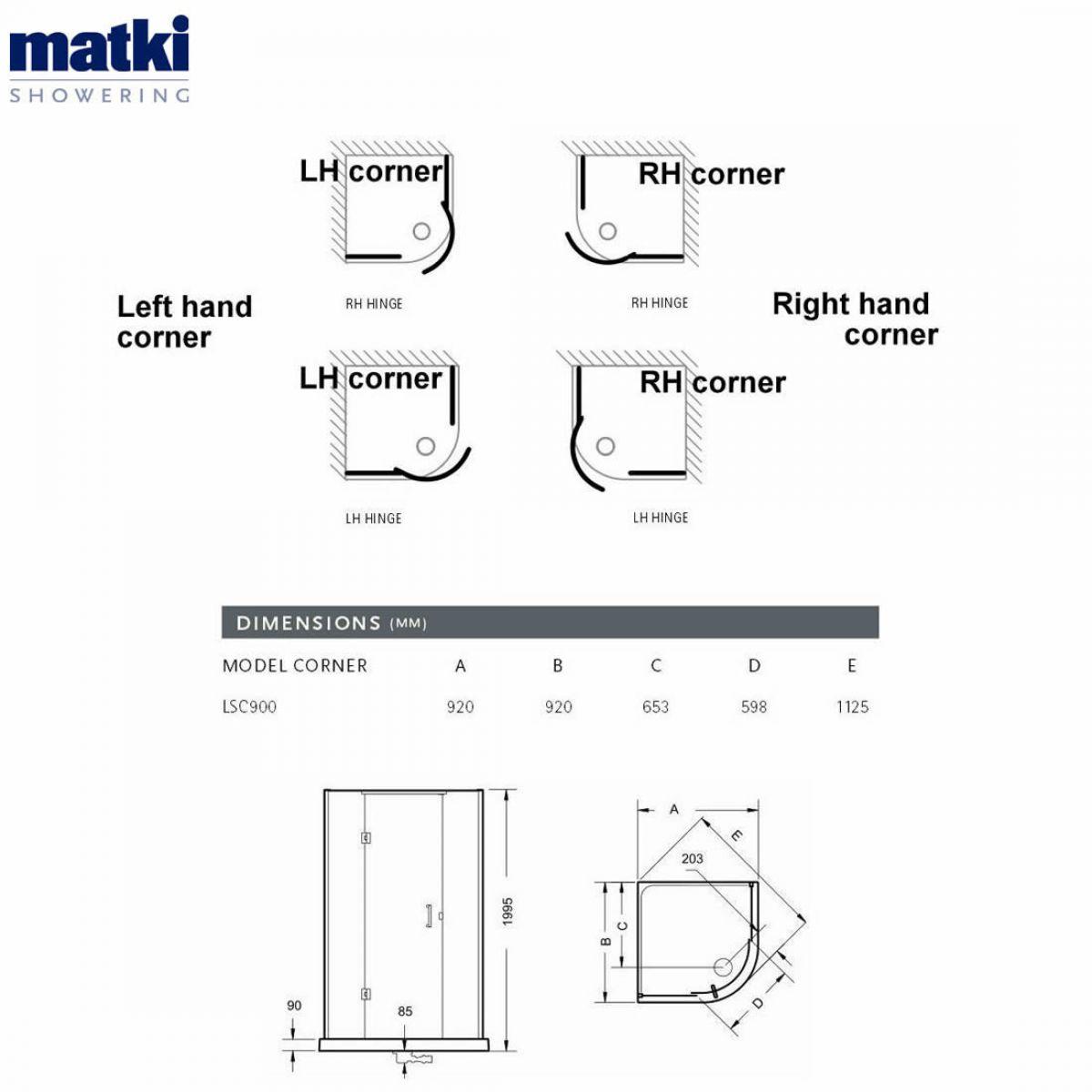 matki original illusion curved corner shower enclosure