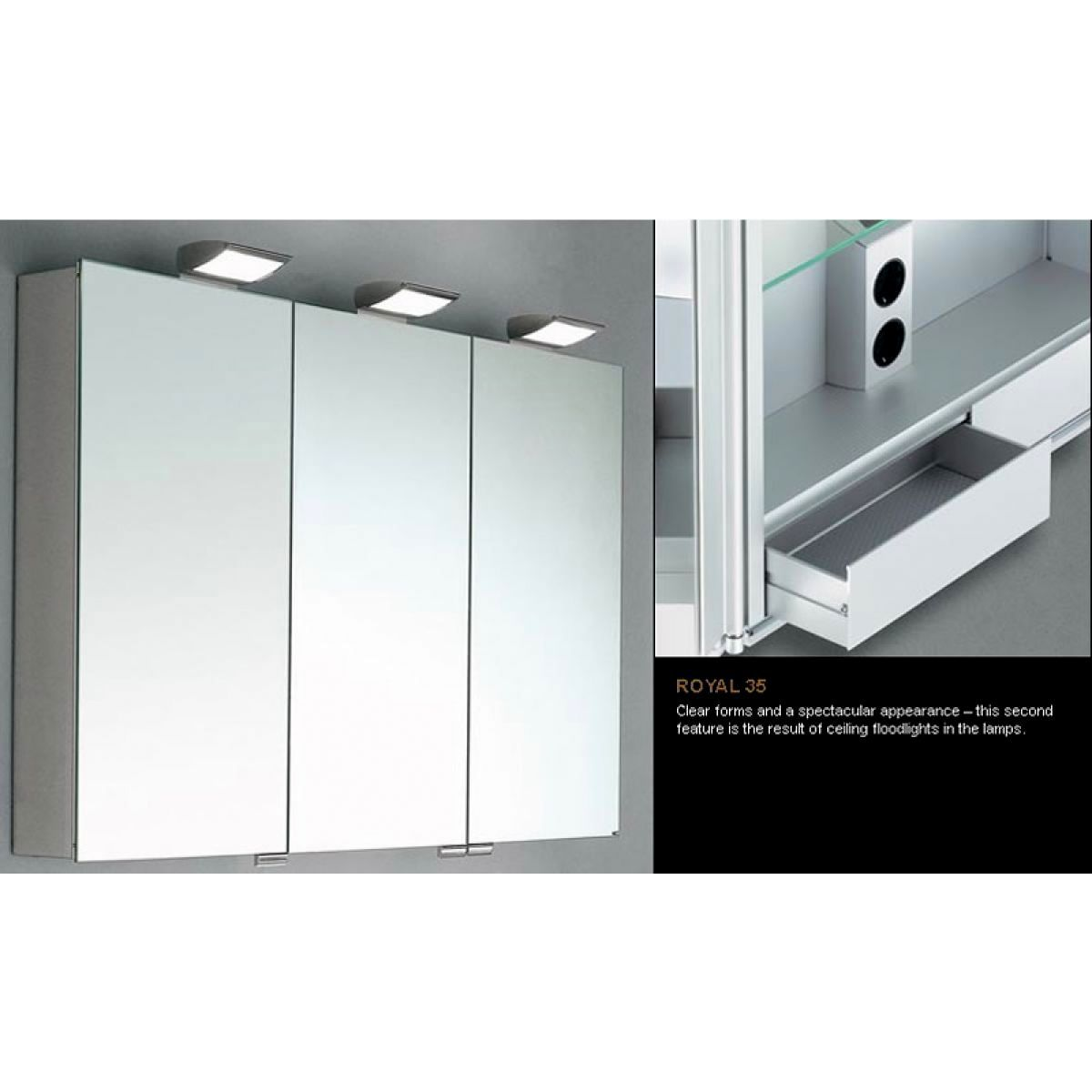 Keuco royal 35 mirror cabinet uk bathrooms - Bathroom cabinets keuco ...
