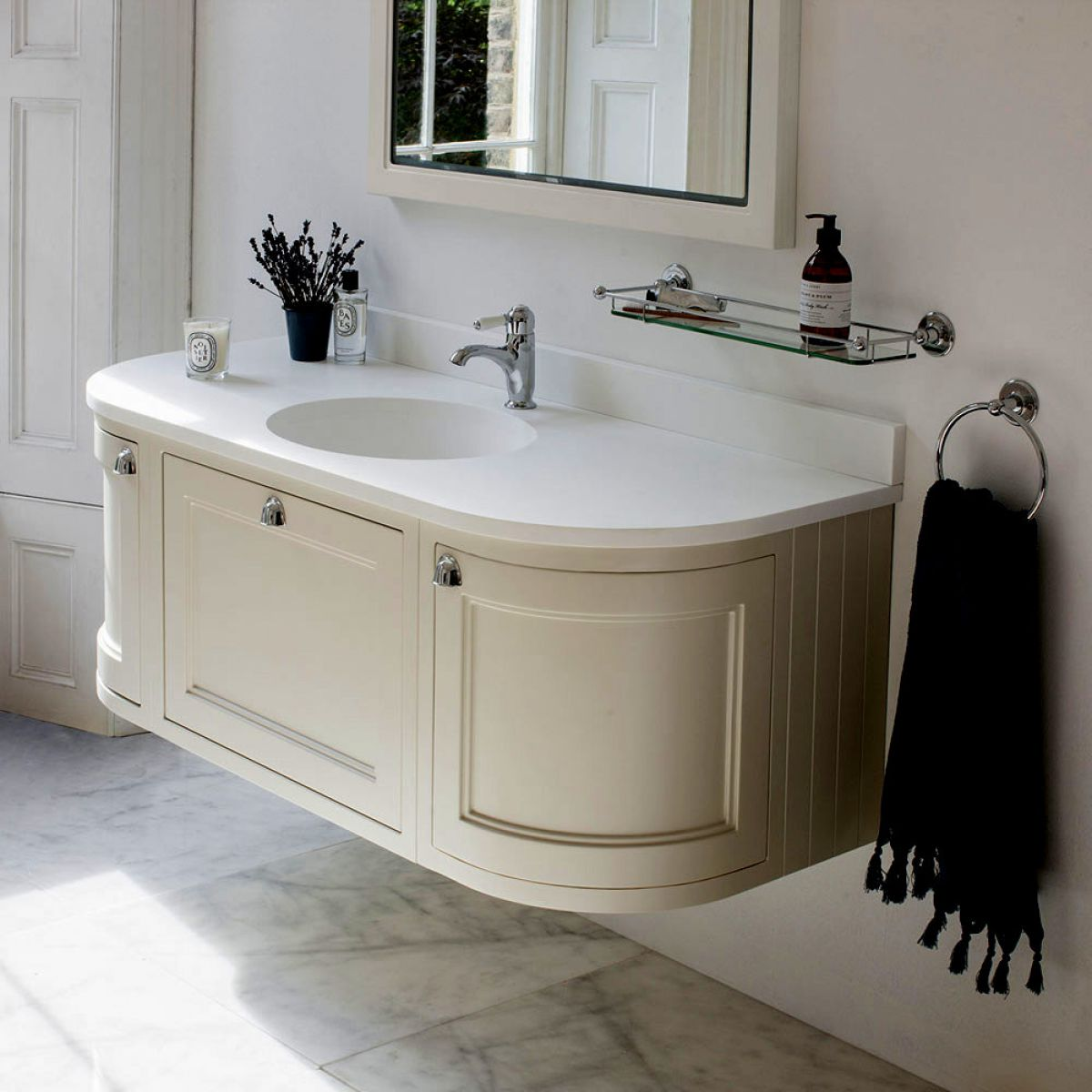 Burlington 134 Curved Wall Hung Vanity Unit Uk Bathrooms