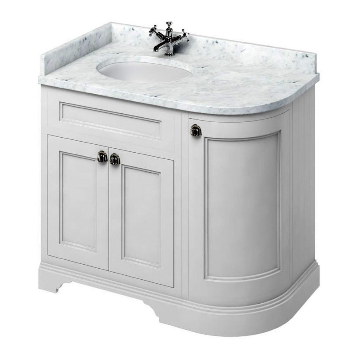 Curved bathroom vanity -  Burlington 100 Curved Vanity Unit