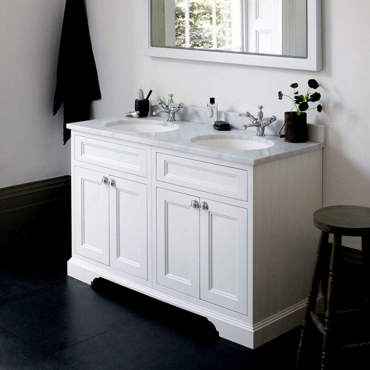 Burlington 130 Twin Basin Vanity Unit With Four Doors Uk Bathrooms