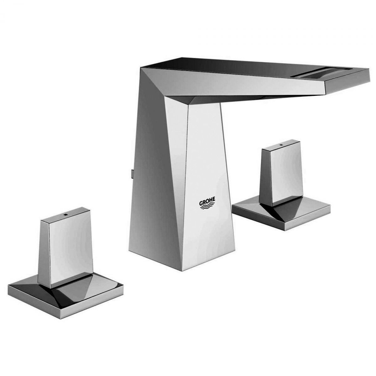 grohe allure brilliant 3 hole basin mixer tap uk bathrooms. Black Bedroom Furniture Sets. Home Design Ideas