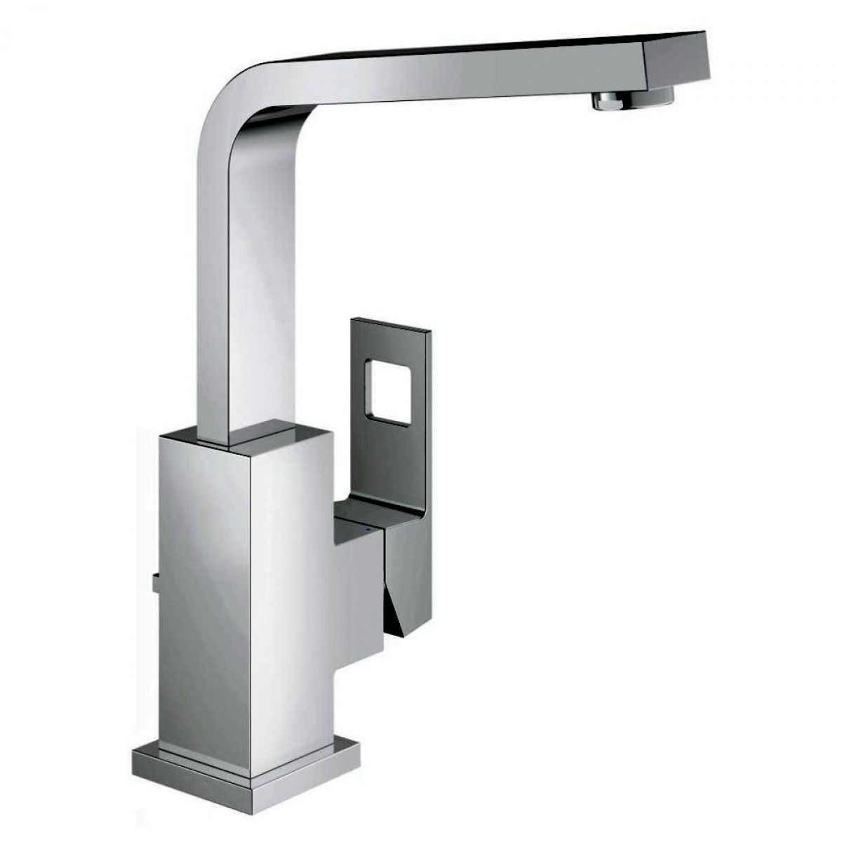 Grohe Eurocube Basin Mixer Tap with Pop-up Waste : UK Bathrooms