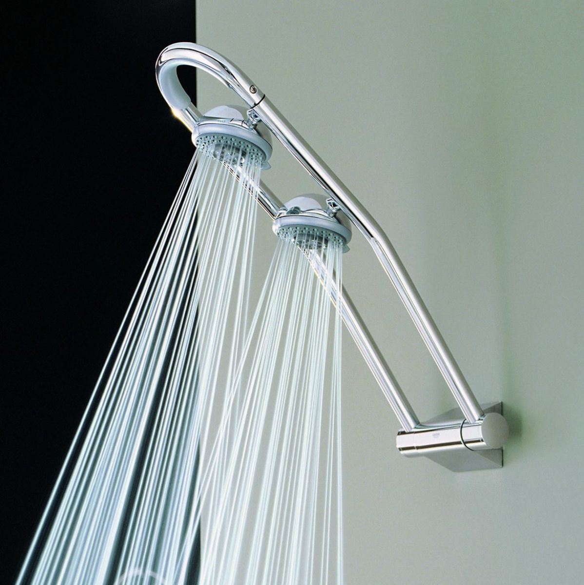 Best 20 Dual Shower Heads Ideas On Pinterest: Grohe Freehander Wall MOunted Shower System : UK Bathrooms