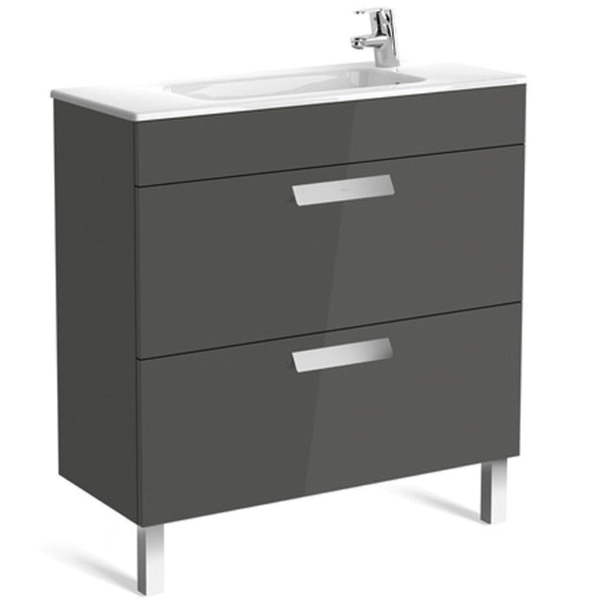 Roca Debba Compact 10 Drawer Vanity Unit with basin : UK Bathrooms