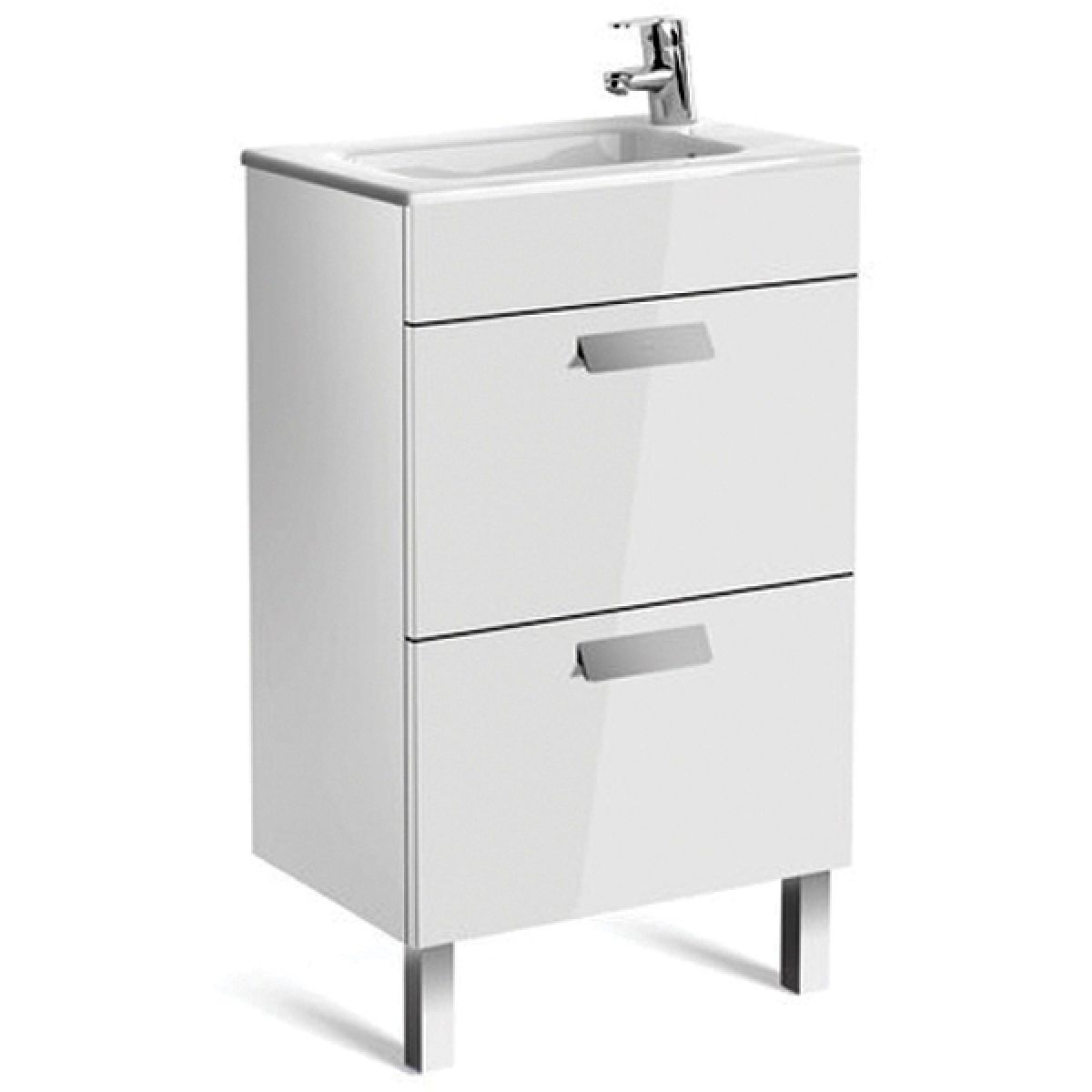 ... Roca Debba Compact 2 Drawer Vanity Unit With Basin ...