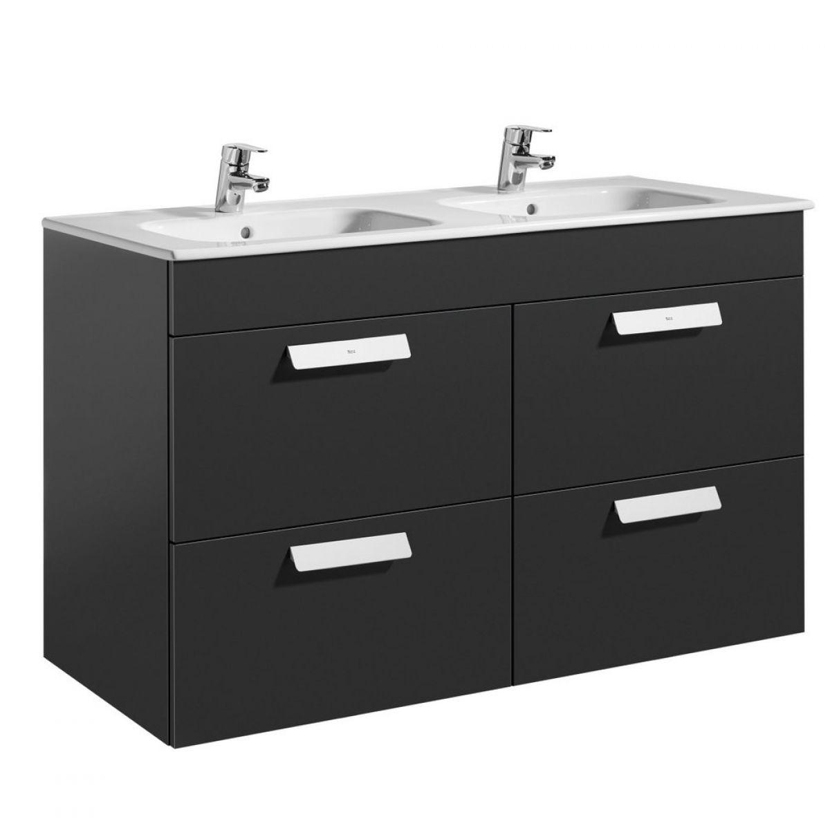 Roca Debba Double Basin Vanity Unit With Drawers Uk