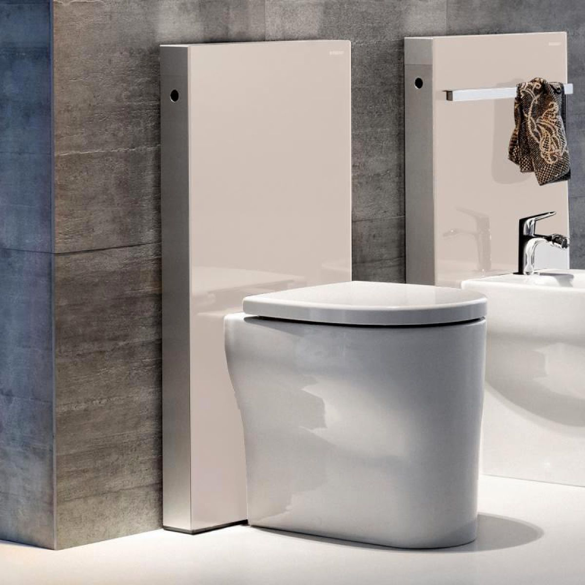 Geberit duofix frame for wall hung wc h82 with omega cistern 12cm - Home Toilets Concealed Toilet Cisterns