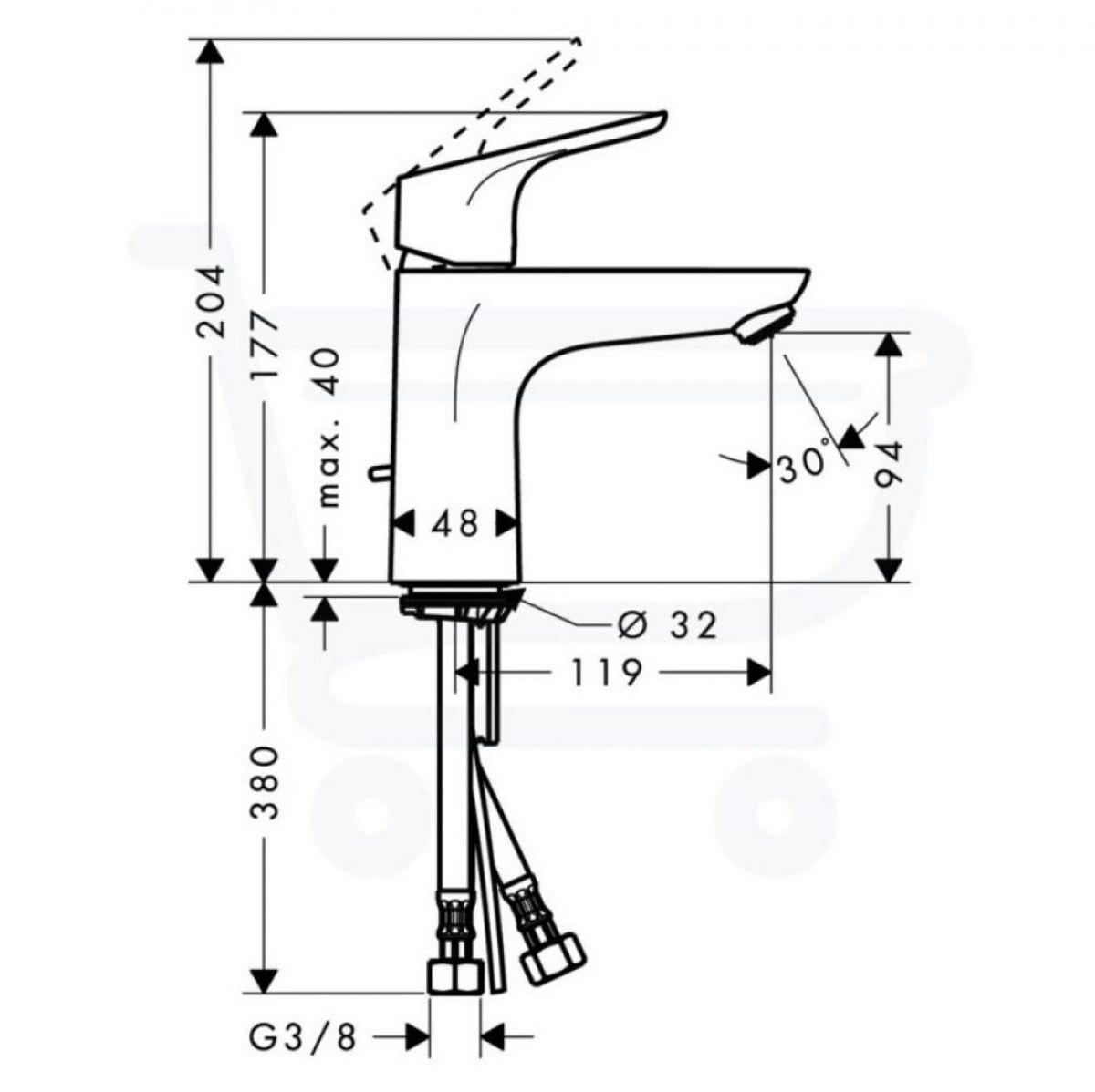 hansgrohe focus 100 basin mixer tap uk bathrooms. Black Bedroom Furniture Sets. Home Design Ideas