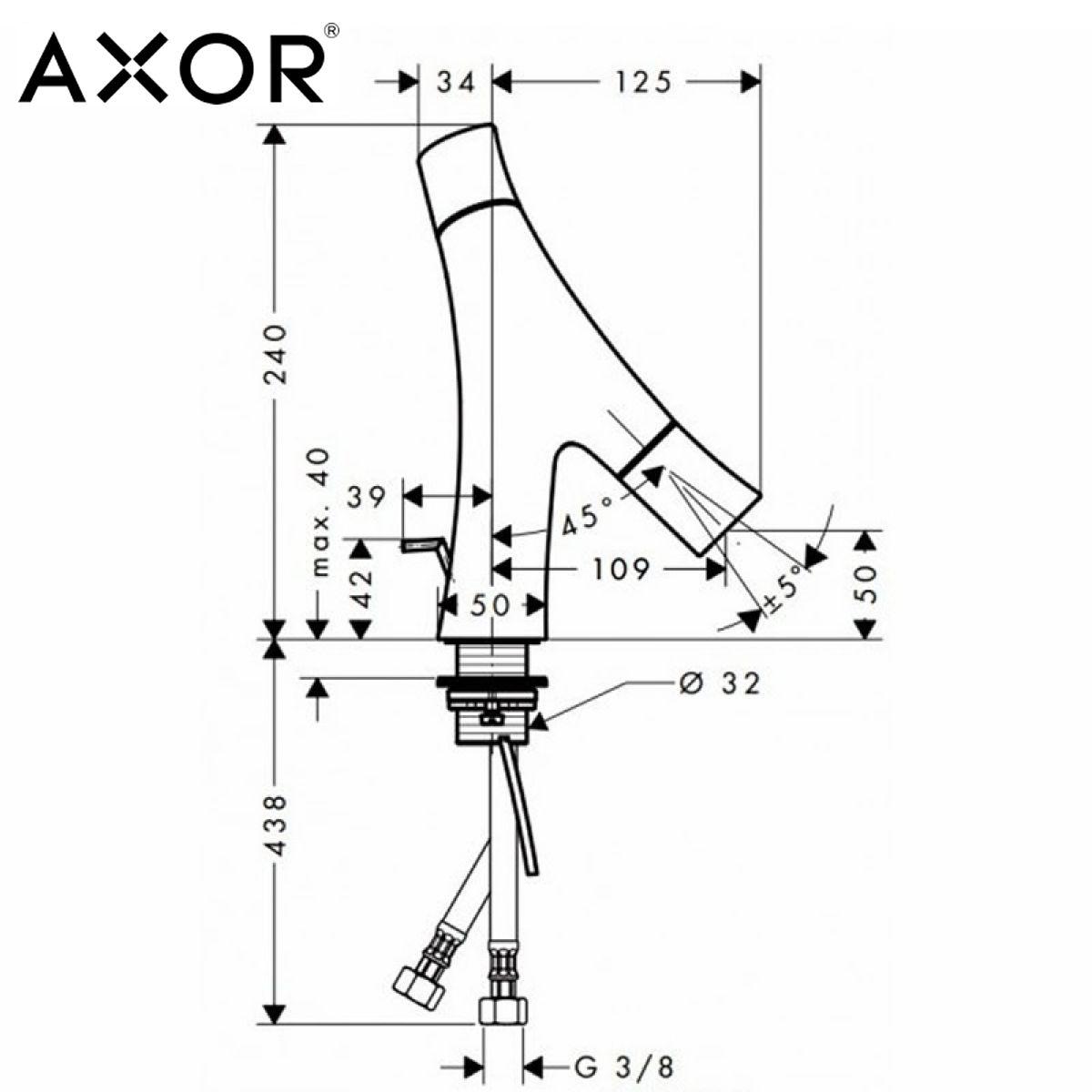 axor starck organic 50 basin mixer tap uk bathrooms. Black Bedroom Furniture Sets. Home Design Ideas