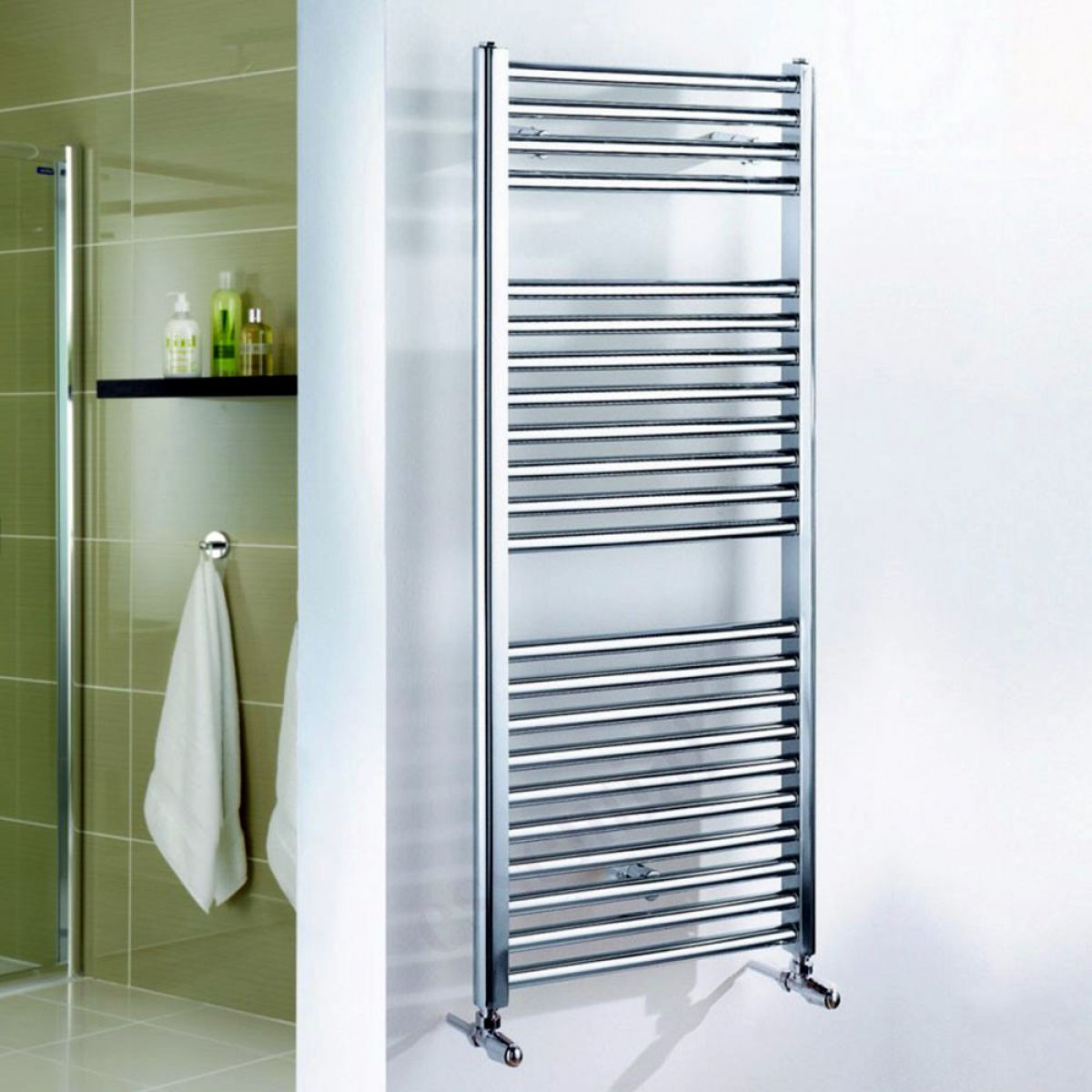 Essential Straight Chrome Towel Warmer : UK Bathrooms