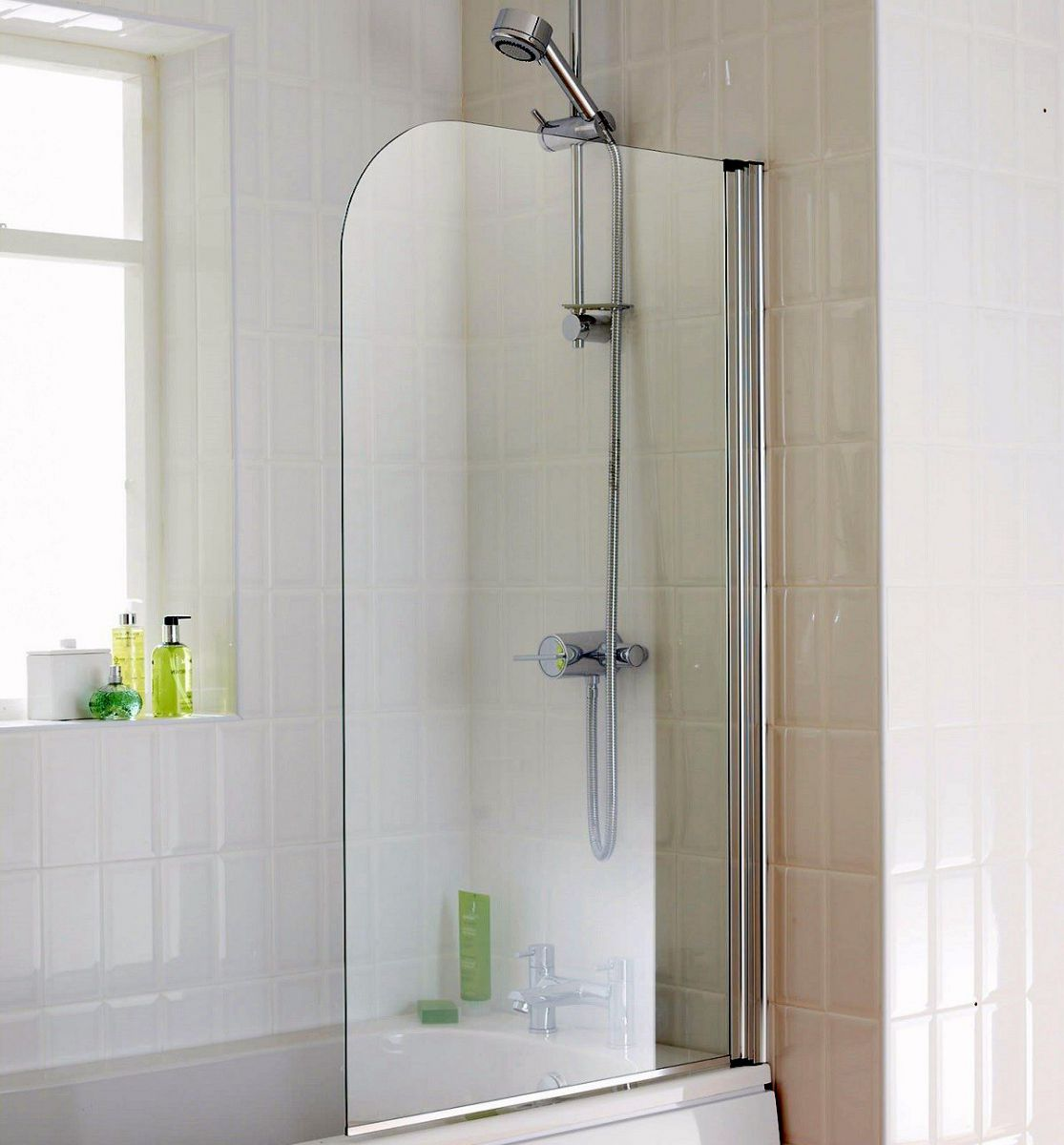Shower Screens For Baths origins element 750 x 1300mm bath screen : uk bathrooms