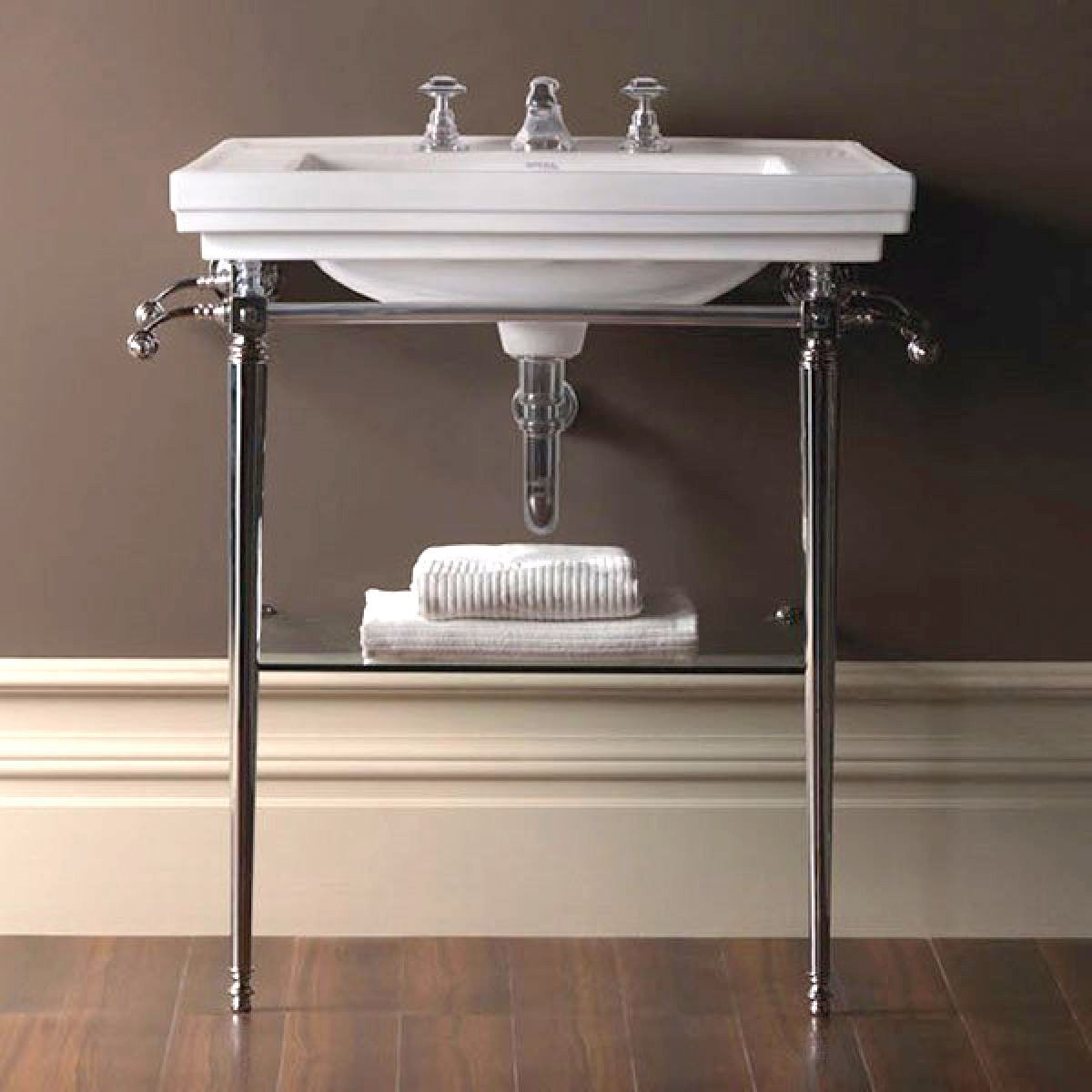Imperial Large Basin Stand with Astoria Deco Basin : UK Bathrooms for Bathroom Basin Stands  56mzq