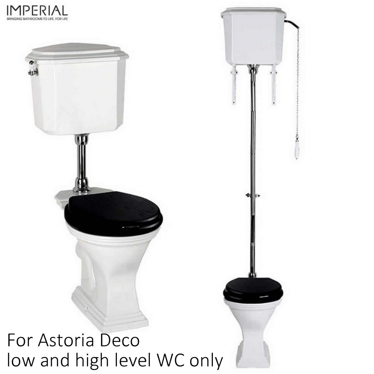 Imperial astoria deco oval toilet seat uk bathrooms - Deco toilet wc ...