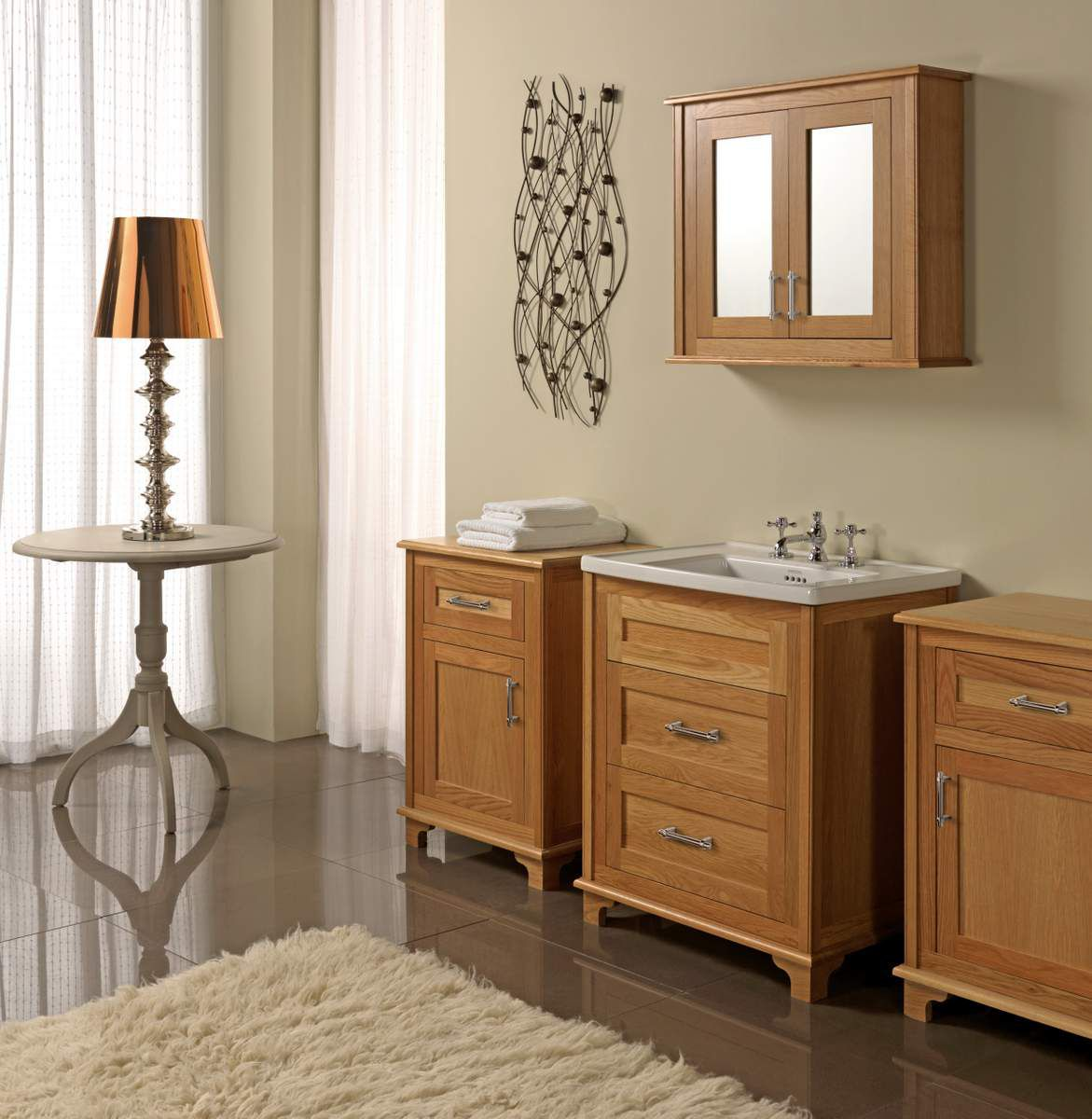 Cream Bathroom Vanity Units Shaker Cabi Onsingularity