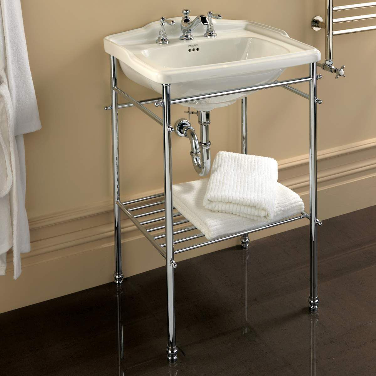 Imperial Drift Square Basin Stand With Large Drift Basin UK - Uk bathrooms