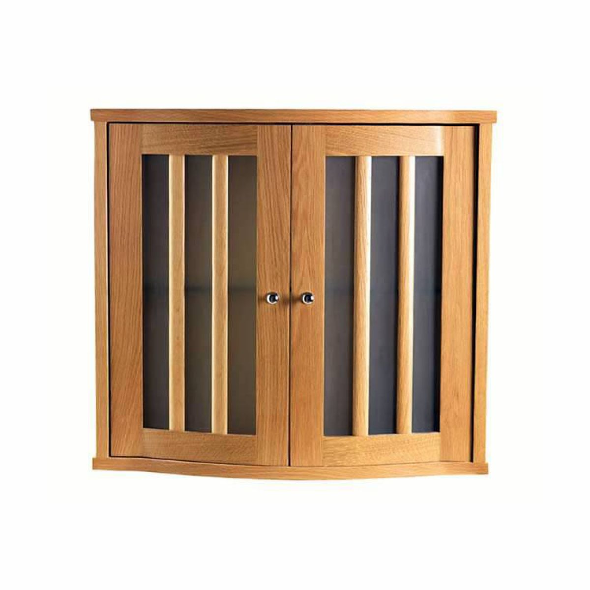 Imperial Linea Wall Cabinet With 2 Curved Glass Doors Uk Bathrooms