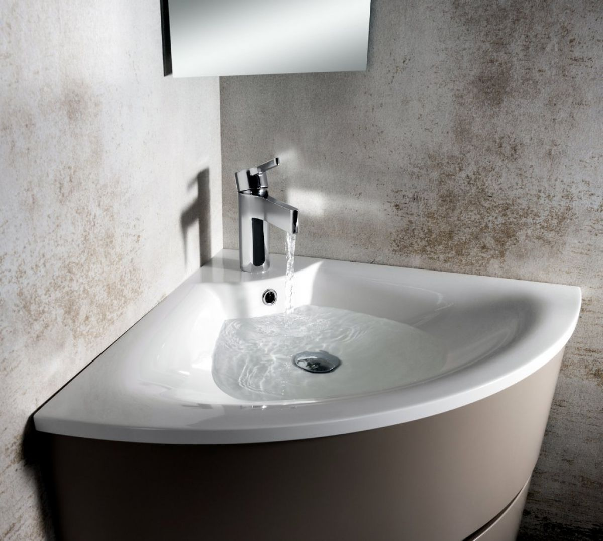 Bauhaus svelte corner unit with mineral marble basin uk - Corner bathroom vanities for sale ...