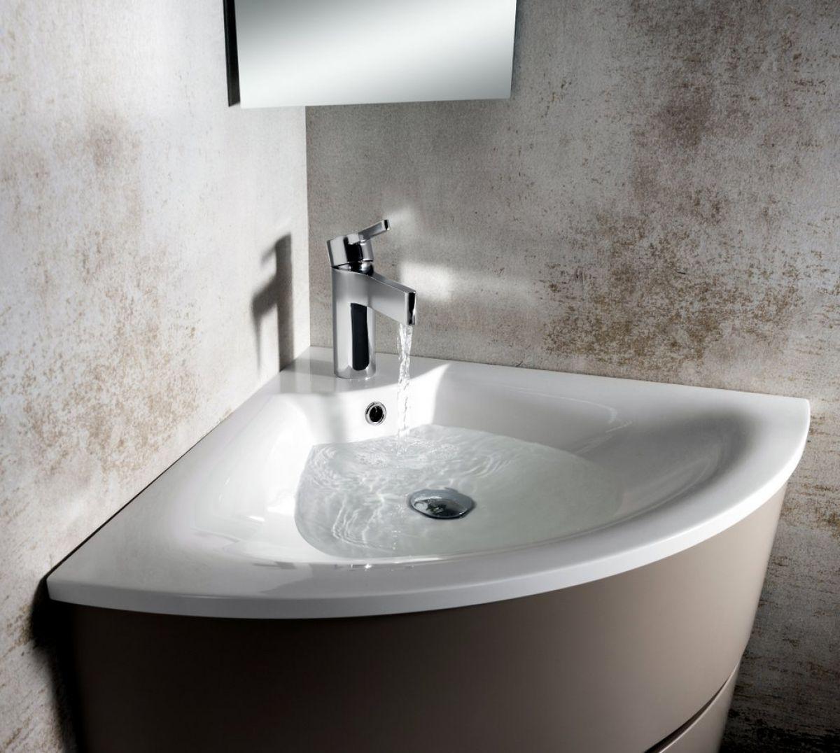 Bauhaus Svelte Corner Unit With Mineral Marble Basin Uk Bathrooms
