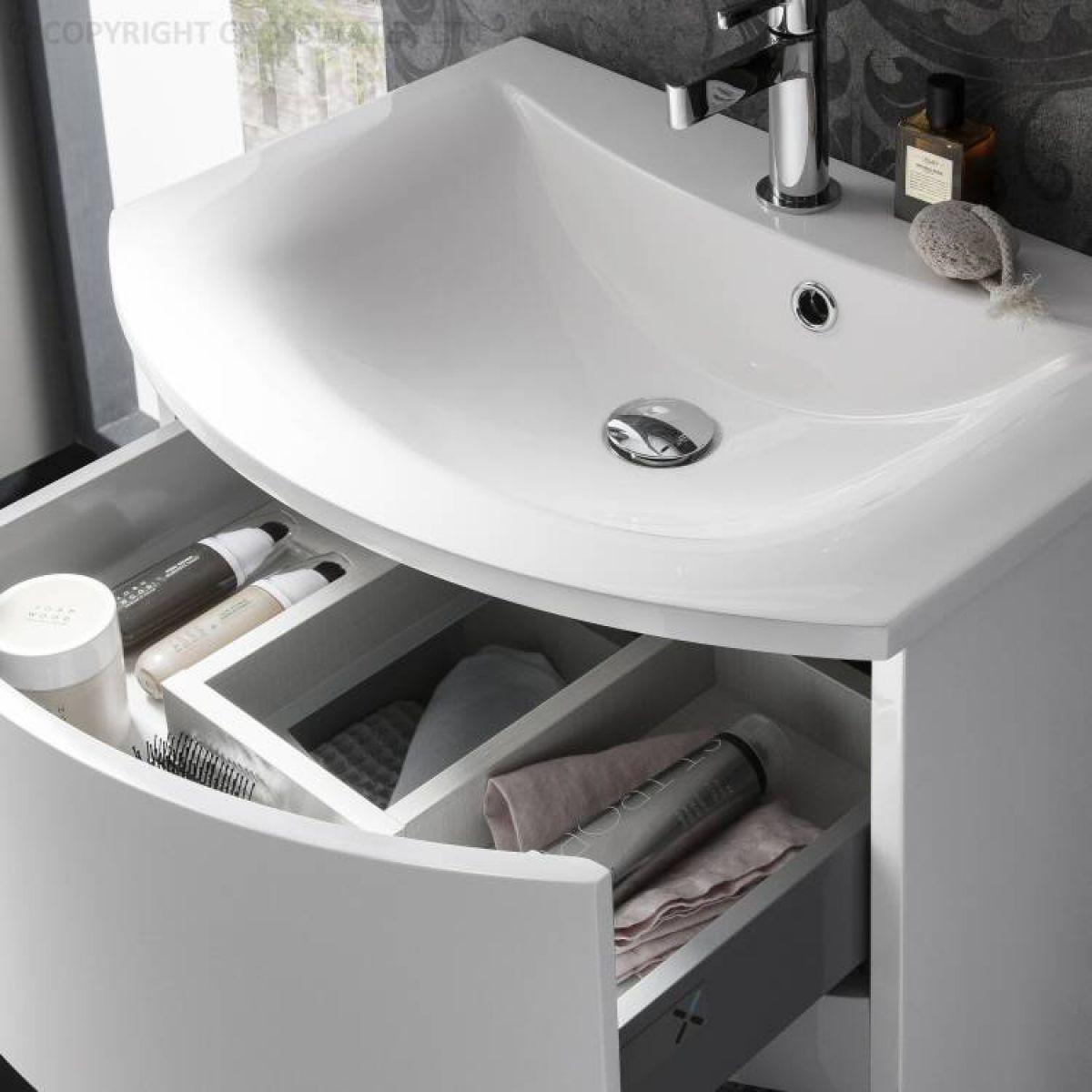 Bauhaus Svelte Vanity Unit With Mineral Marble Basin Uk