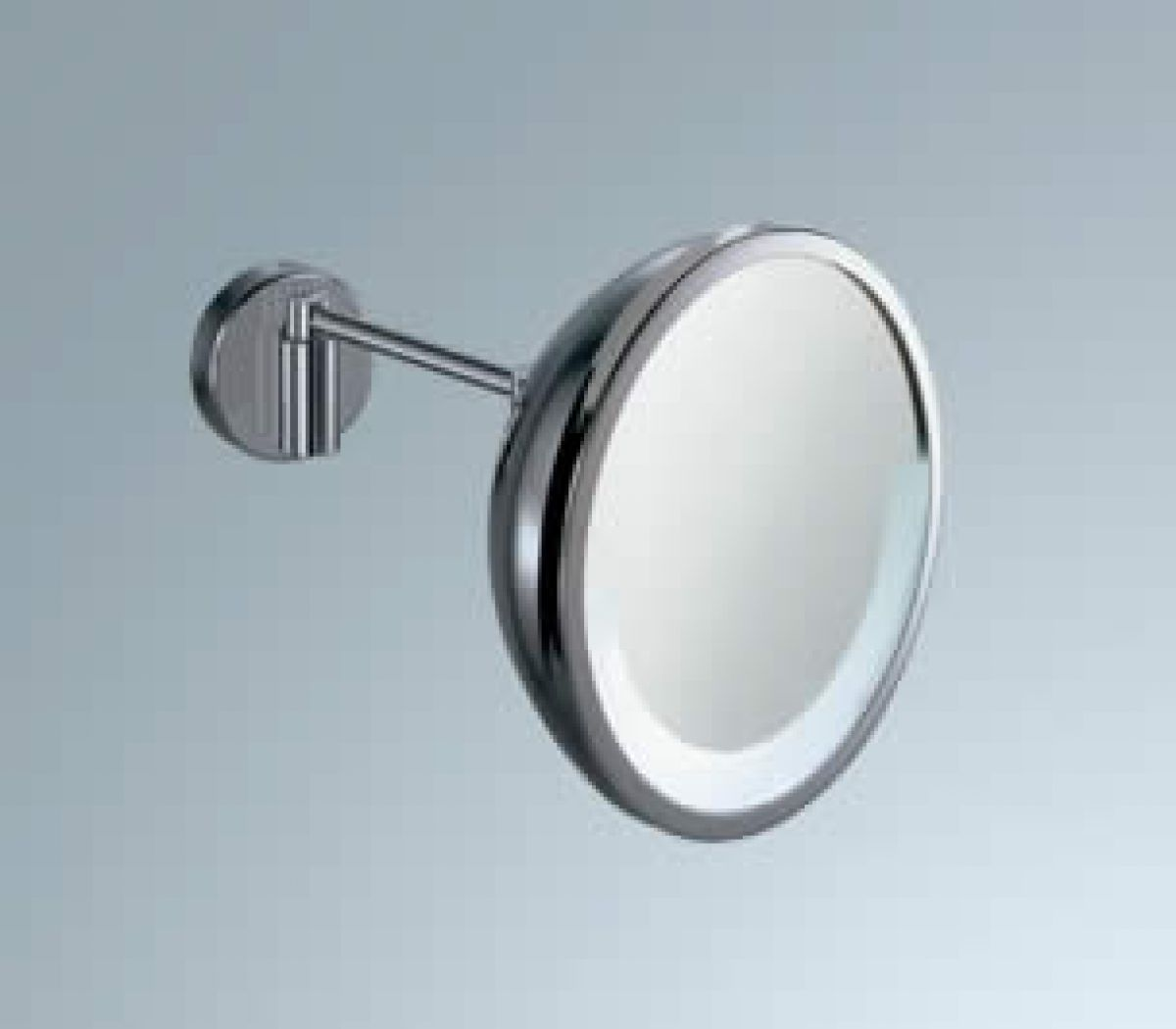 Inda Magnifying Mirror with Lamp : UK Bathrooms