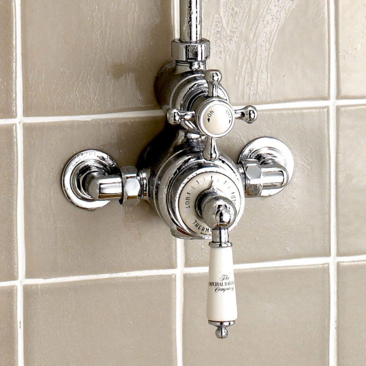 Exposed Thermostatic Shower Valve Gold - Shower Designs