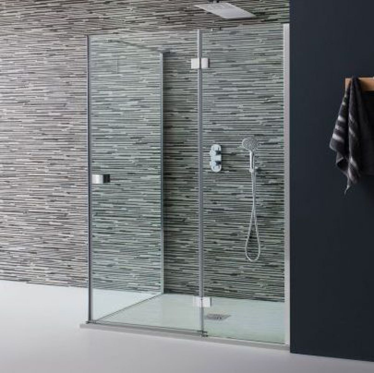 Simpsons design hinged shower door with inline panel uk for 1200 hinged shower door