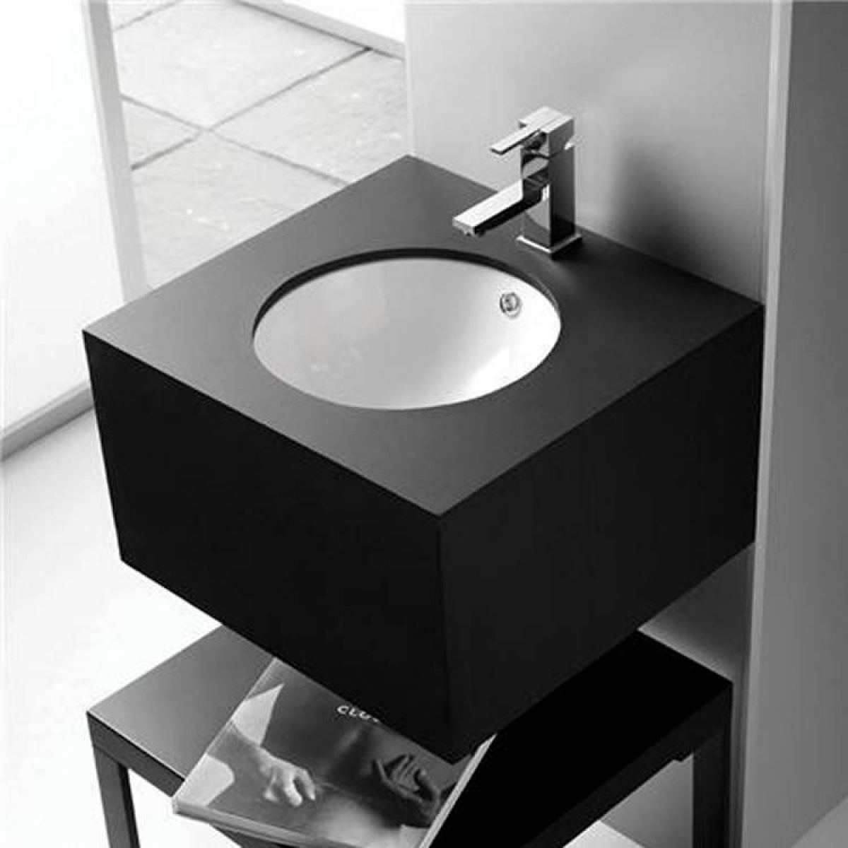 Undermount basin bathroom