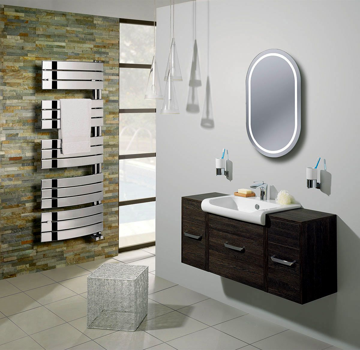 Bauhaus Essence Curved Flat Panel Towel Warmer