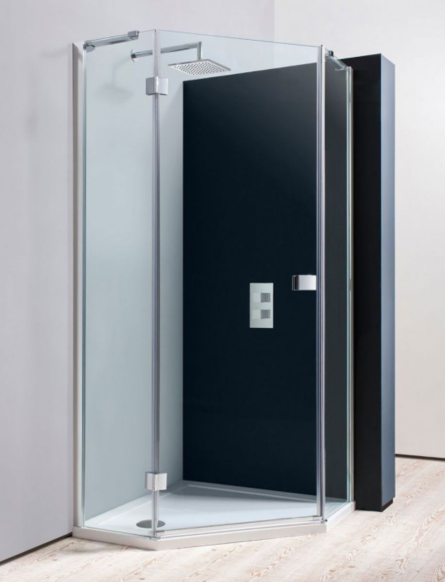 Simpsons Design Semi-Frameless Pentagon Shower Enclosure : UK Bathrooms