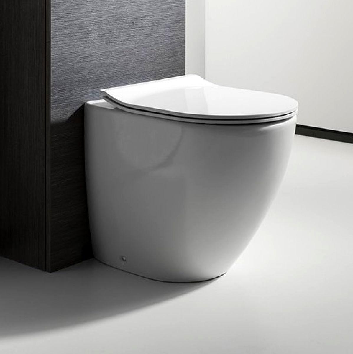 bauhaus svelte back to wall toilet uk bathrooms. Black Bedroom Furniture Sets. Home Design Ideas