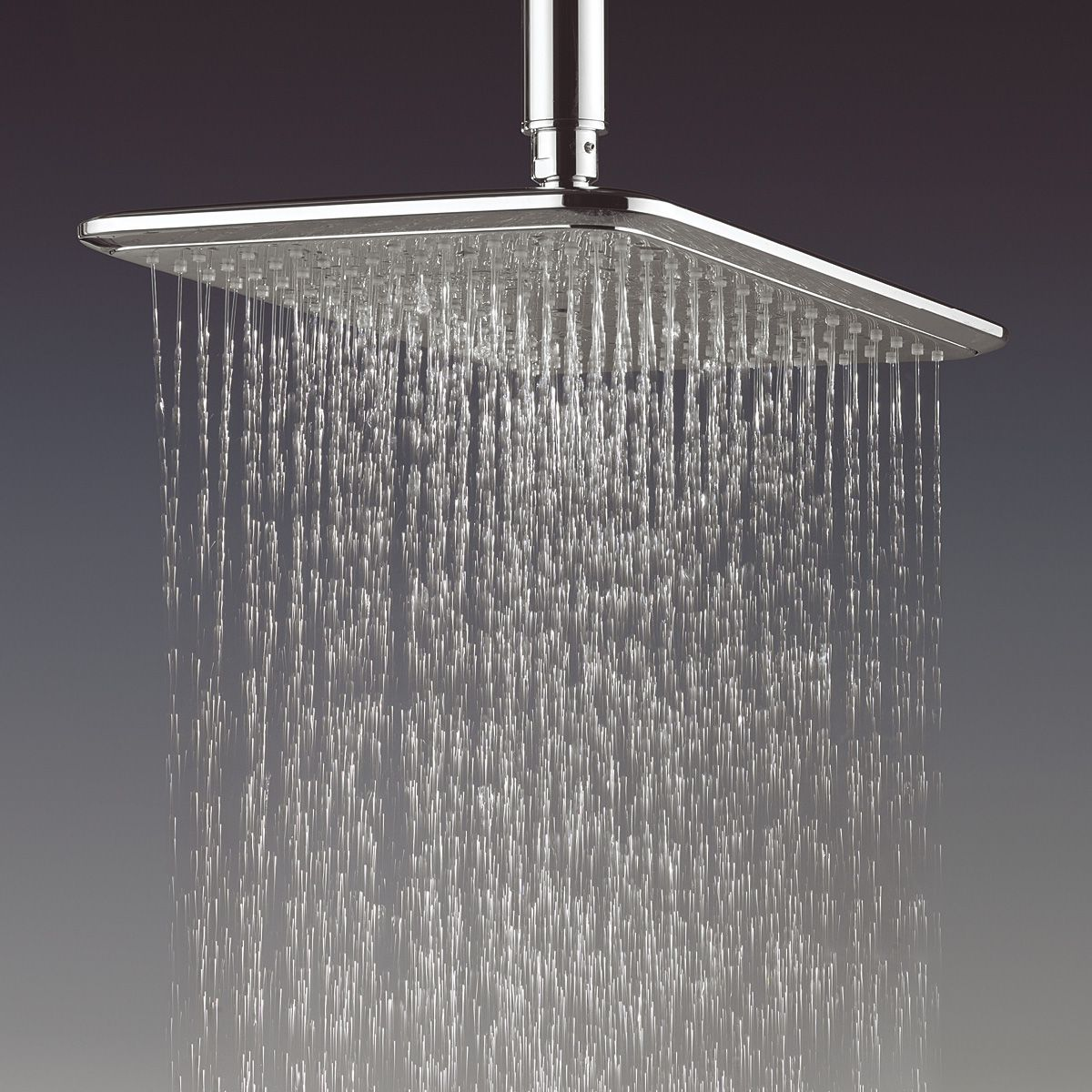 Crosswater essence fixed rectangular shower head : UK Bathrooms