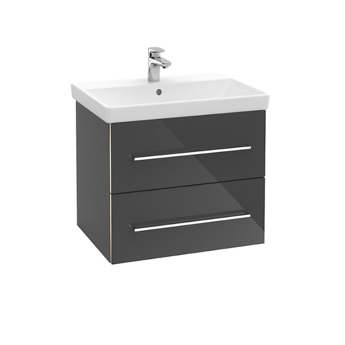 villeroy and boch avento two drawer vanity washbasin unit uk bathrooms. Black Bedroom Furniture Sets. Home Design Ideas
