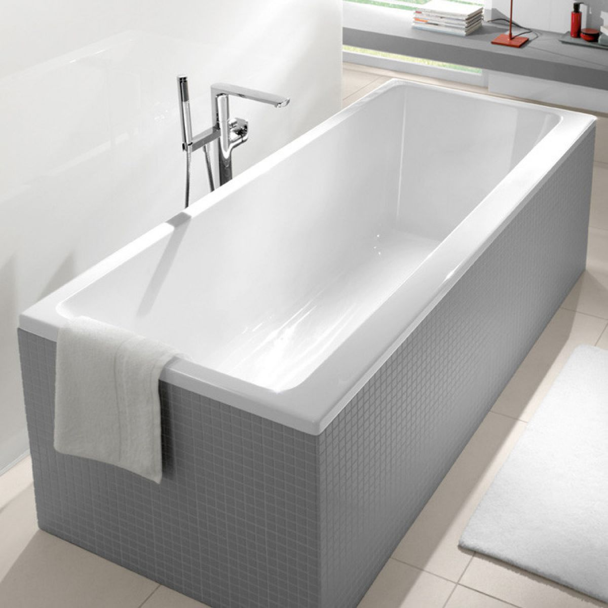 villeroy and boch subway duo rectangular bath uk bathrooms. Black Bedroom Furniture Sets. Home Design Ideas