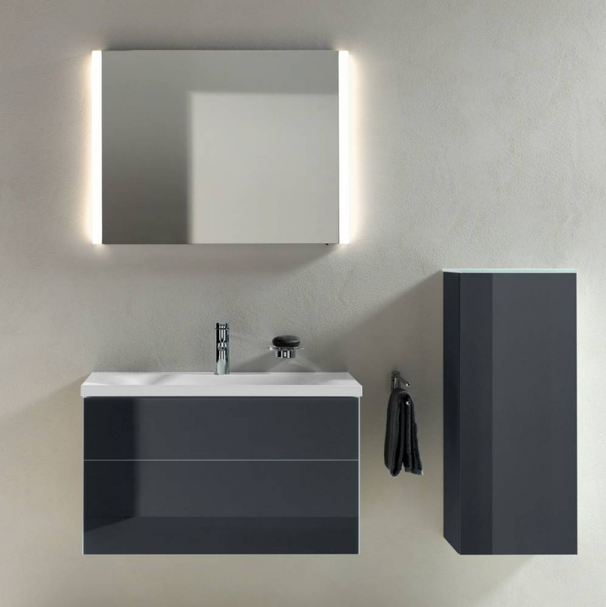 keuco royal reflex washbasin vanity unit with basin uk bathrooms. Black Bedroom Furniture Sets. Home Design Ideas
