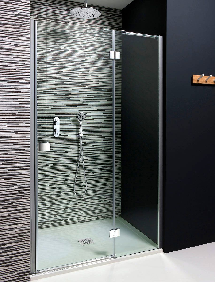 Simpsons Design Hinged Shower Door With Inline Panel Uk Bathrooms